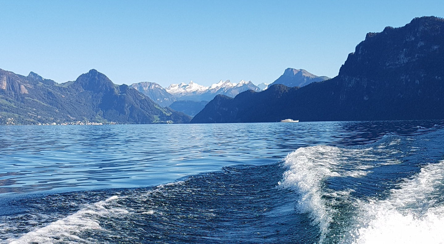 classic boats on the lake of Lucerne